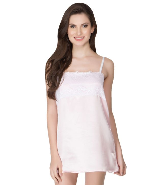 4b072edbe6 Buy Clovia Pink Satin Nightwear For Women Online at Best Prices in India -  Snapdeal
