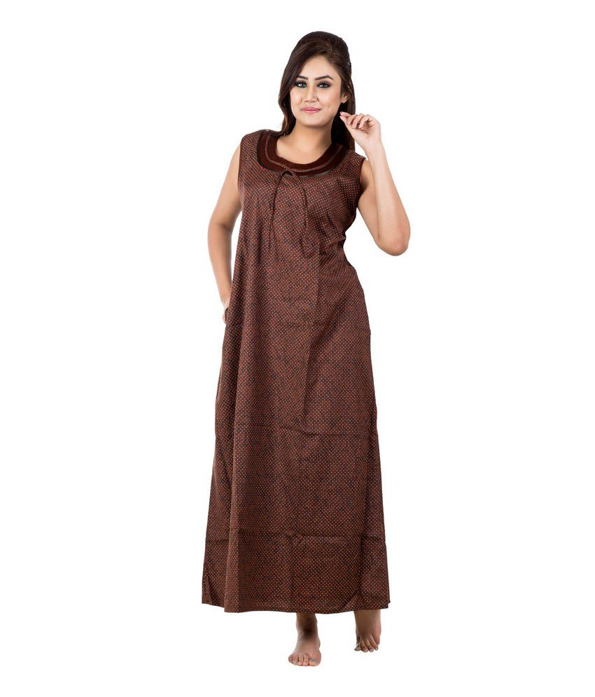 f37caede026 Buy Eazy Sleeveless Cotton Nighty Online at Best Prices in India - Snapdeal