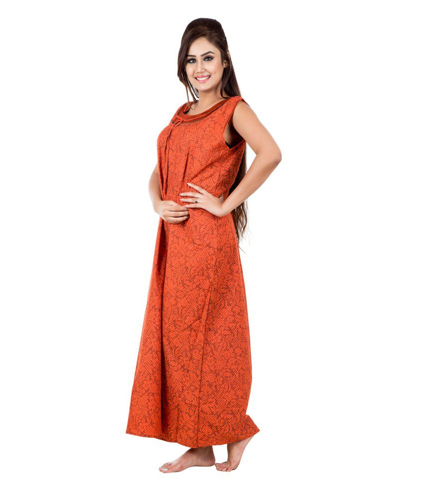 e1ec5aabfbb Buy Eazy Sleeveless Cotton Nighty Online at Best Prices in India ...