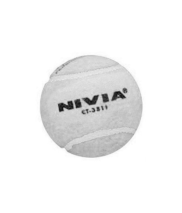114e8cc9176 Nivia White Cricket Tennis Ball Heavy Weight ( Ct-3813 ) 12 Balls  Buy  Online at Best Price on Snapdeal
