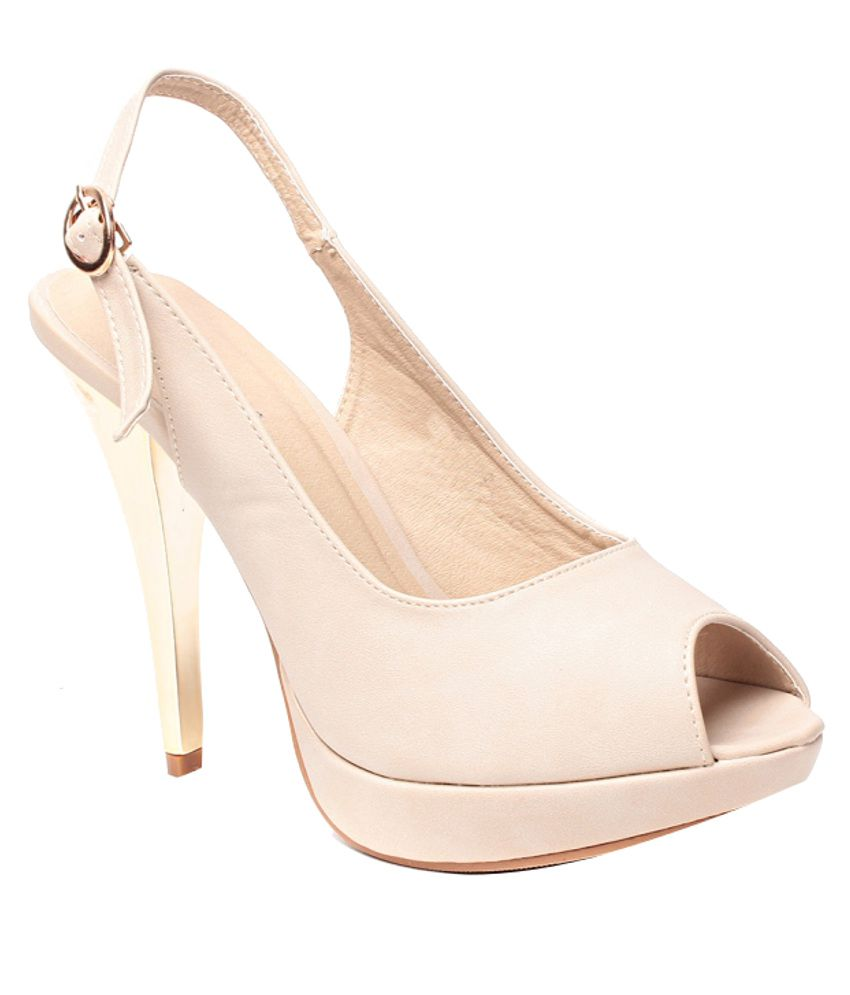 Steppings Sophisticated Beige Heeled Sandals
