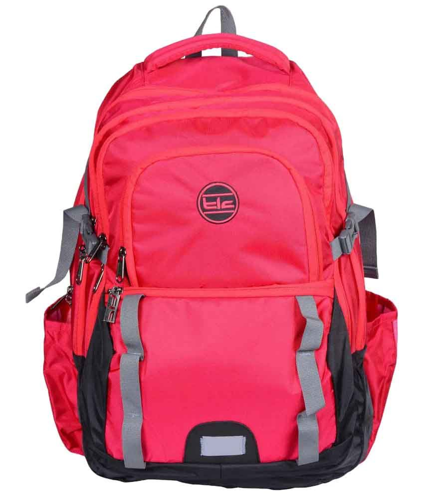 TLC All Track Pink Laptop Backpack Bag