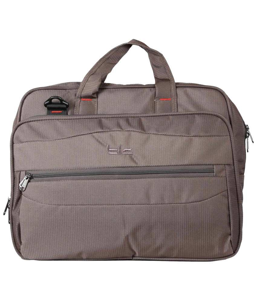TLC Dimorphic Brown Laptop Bag