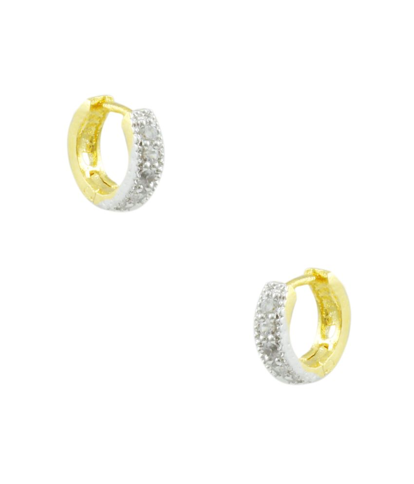 Orniza Sparkling CZ Hoop Earrings