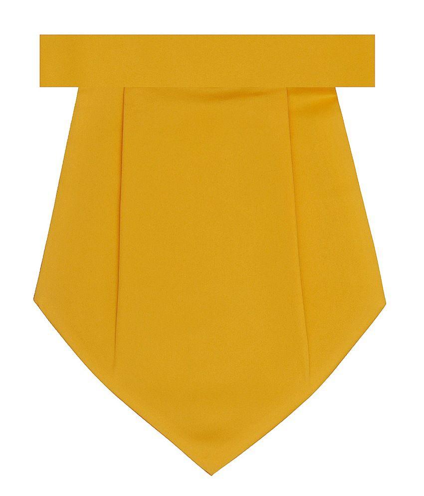 Tiekart Combo of Yellow Cravat & Pocket Square