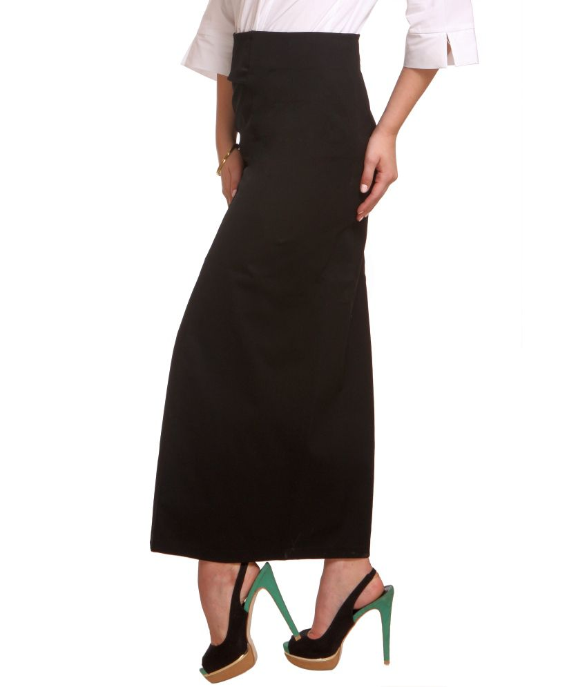 Buy Zoysia Black Formal Corporate Wear Long Straight Skirt ...