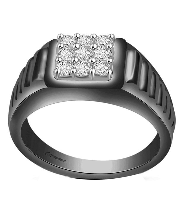 Ciemme Silver Contemporary Cubic Zirconia Band Ring