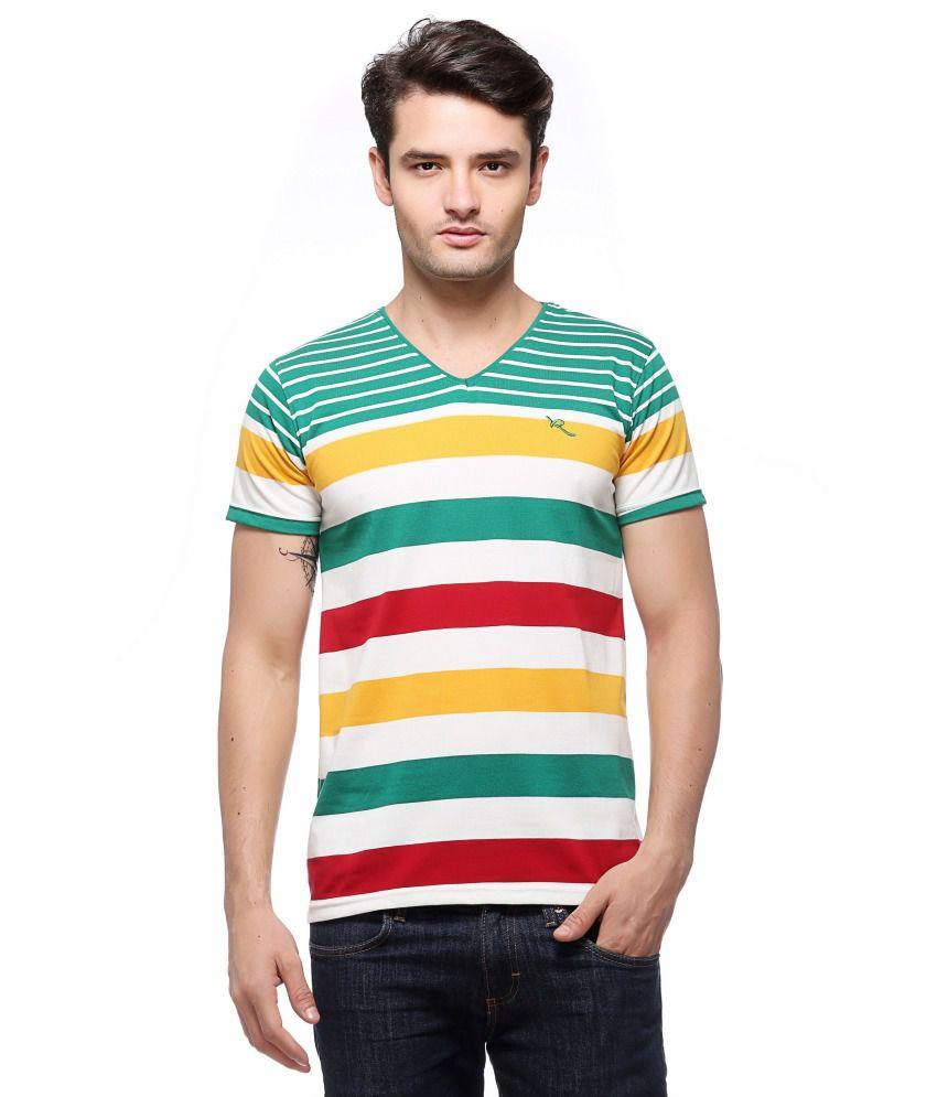 Recharge V Neck Men's Cotton T Shirt