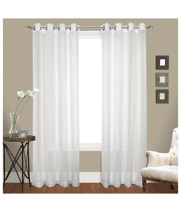 Curtains By Maya Designs Single Door Sheer Curtains Curtain Solid ...