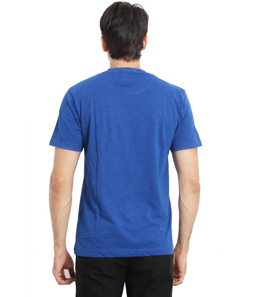 Fulon Blue Round Neck T Shirt