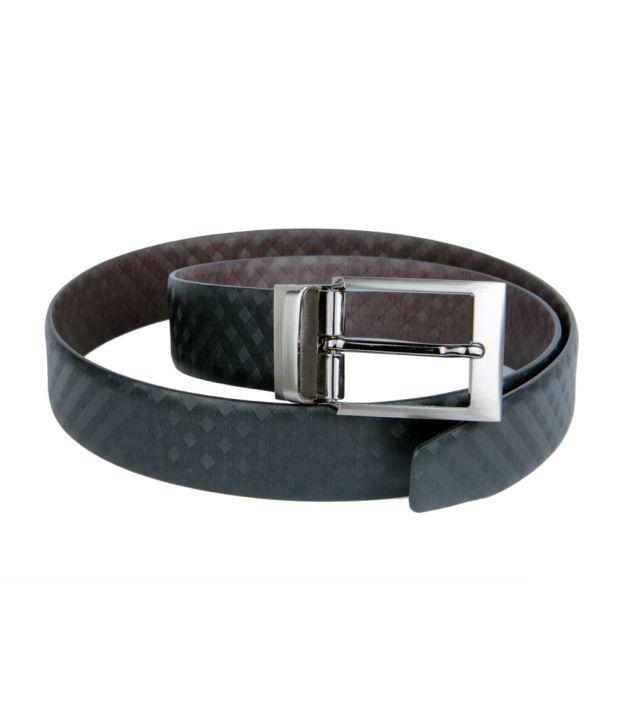 Kiko Bazar Black & Brown Formal Reversible Italian Leather Belt