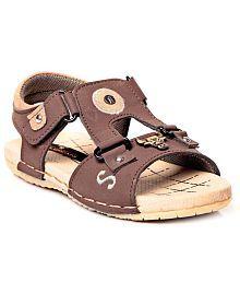 Trilokani Brown Sandals For Kids