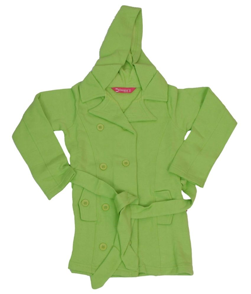 Dreamszone Green Cotton Hooded Coat