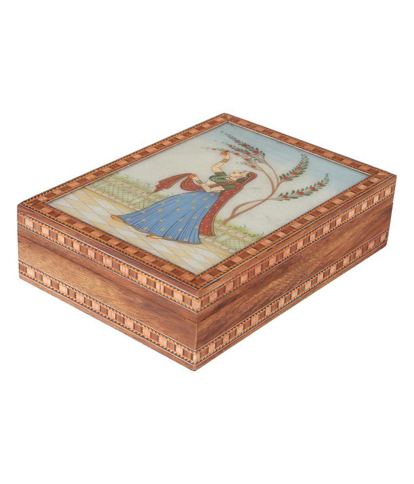Cottage Emporium Multicolour Box Marble Painting