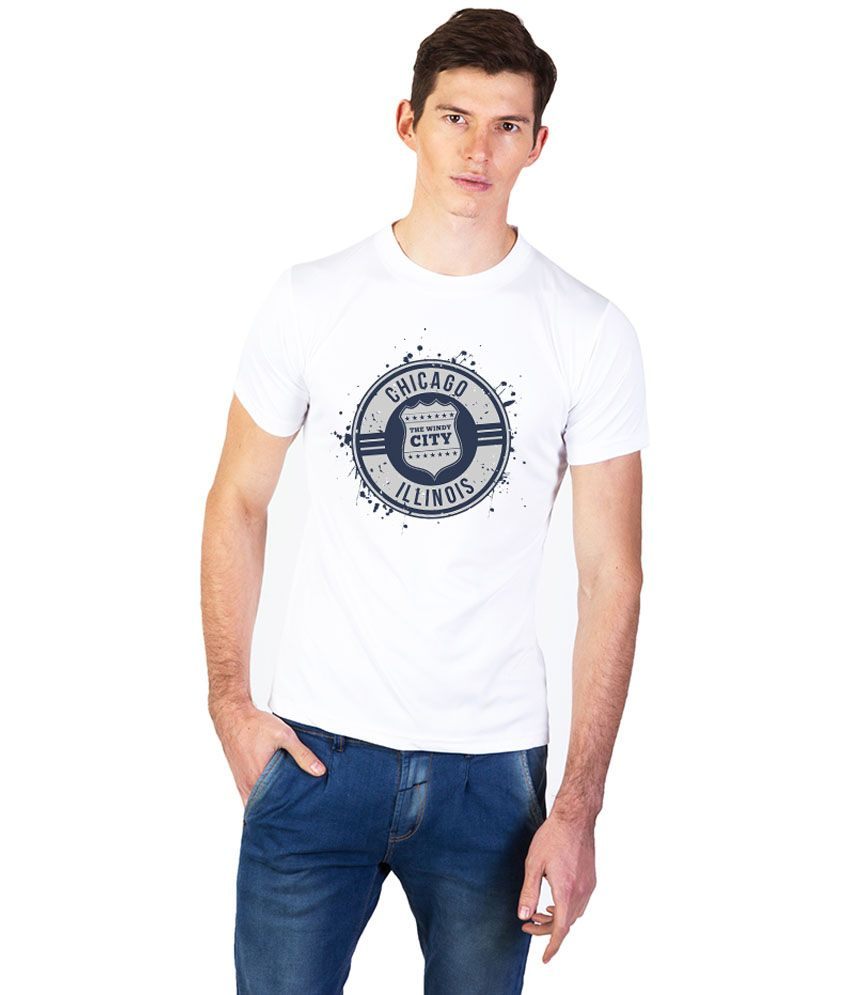 Effit White Cotton Round Neck T Shirt