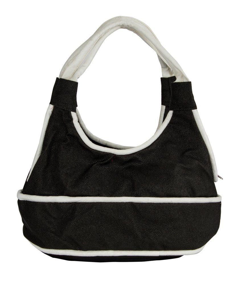 Fashion Knockout Black-White Round Handbag