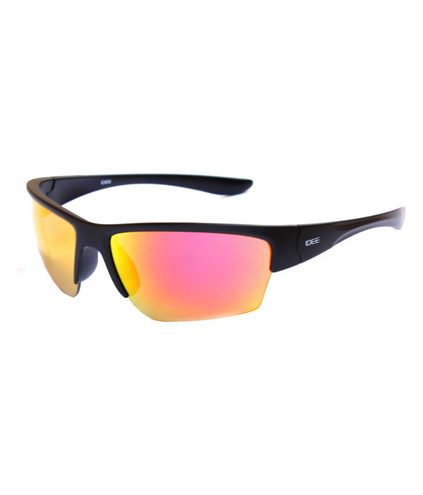 Idee Black Rectangle Sunglasses with UV Protection