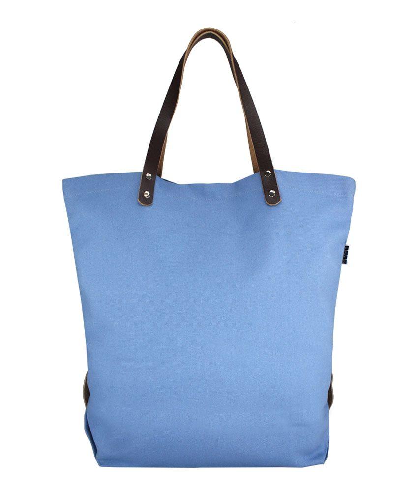 YOLO Blue Canvas Cloth Shoulder Bag