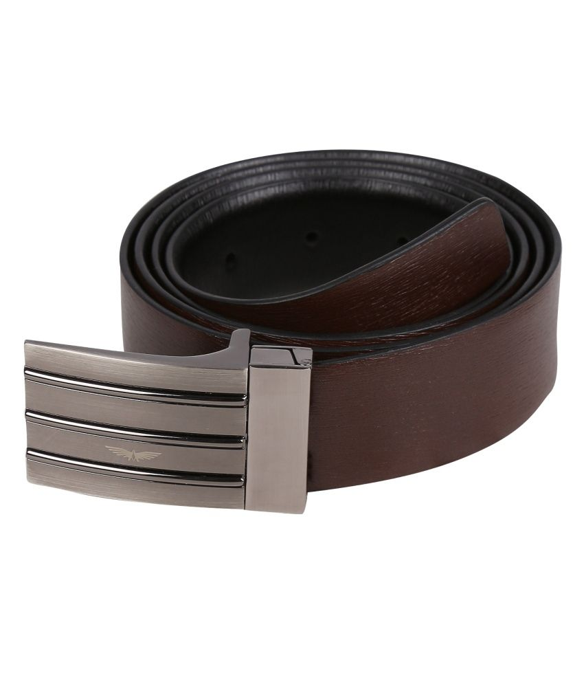Park Avenue Brown Leather Belt For Men