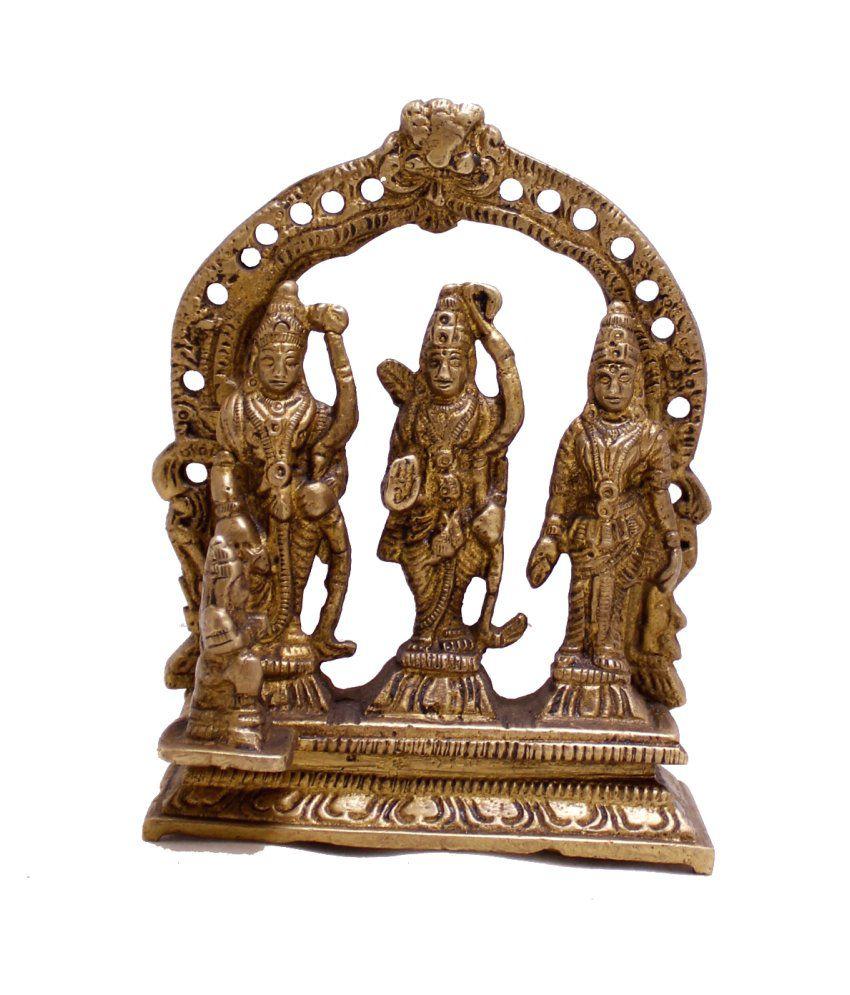 Amazing India Brown Brass Ram Idol