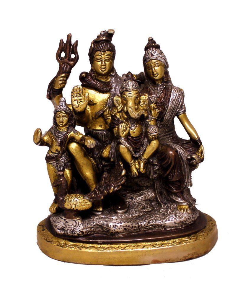 Amazing India Brown Brass Religious Idol