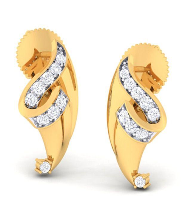 Diseno 18kt Gold Diamonds Hanging Earrings