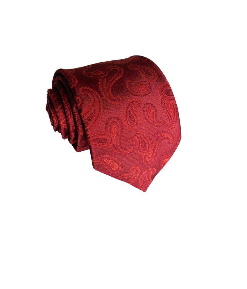 Yug Parivartan Maroon Micro Fiber Formal Premium Tie
