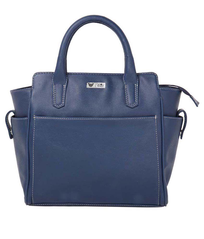 Beau Design Blue Color PU Leather Two Handbag
