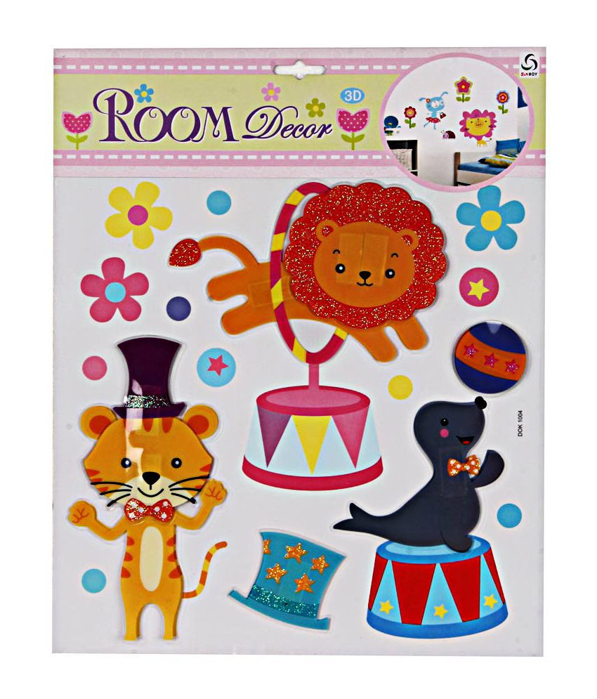 Birthday giftwala 3d foam cat stickers room decor buy for Room decor 3d foam stickers