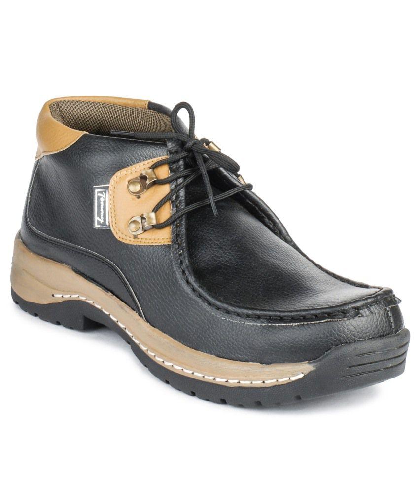 Foot N Style Black Nubuck Leather Boot