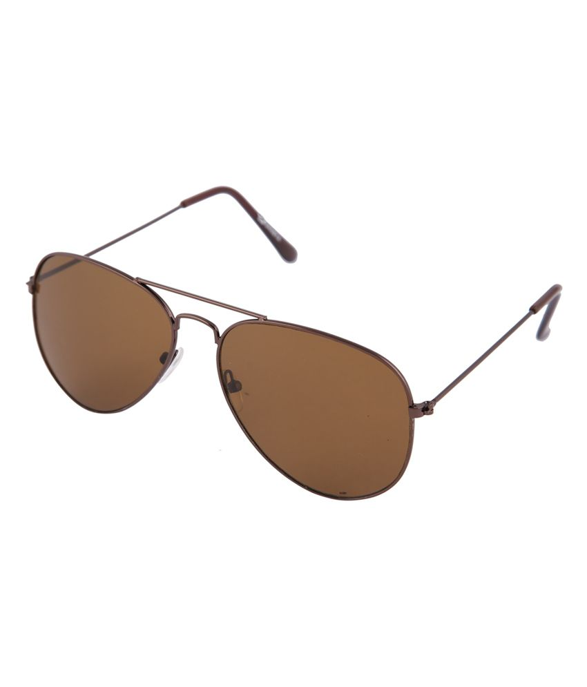 Gansta Brown Metal Aviator Sunglasses - GN-3002