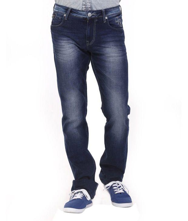 Lawman Blue Cotton Slim Fit Jeans