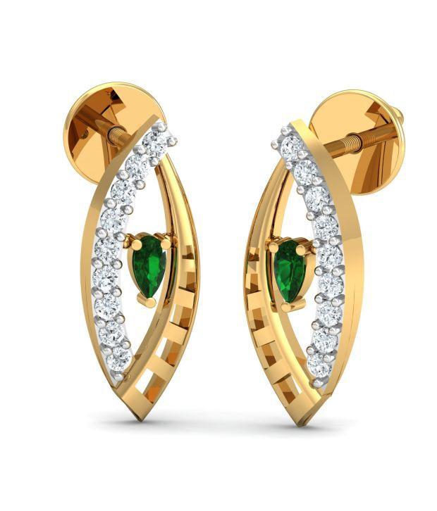 My Diamond Jewellery MDJ Shell Diamond Earring