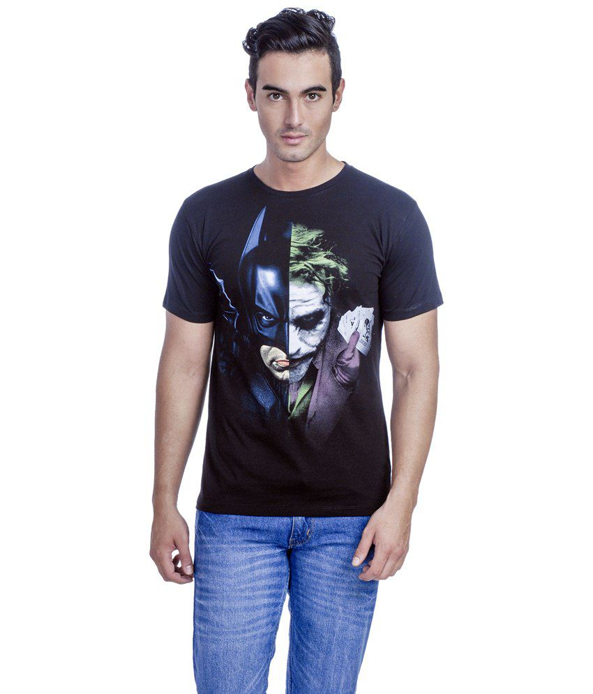 Batman Stylish Black Graphic T-shirt For Men