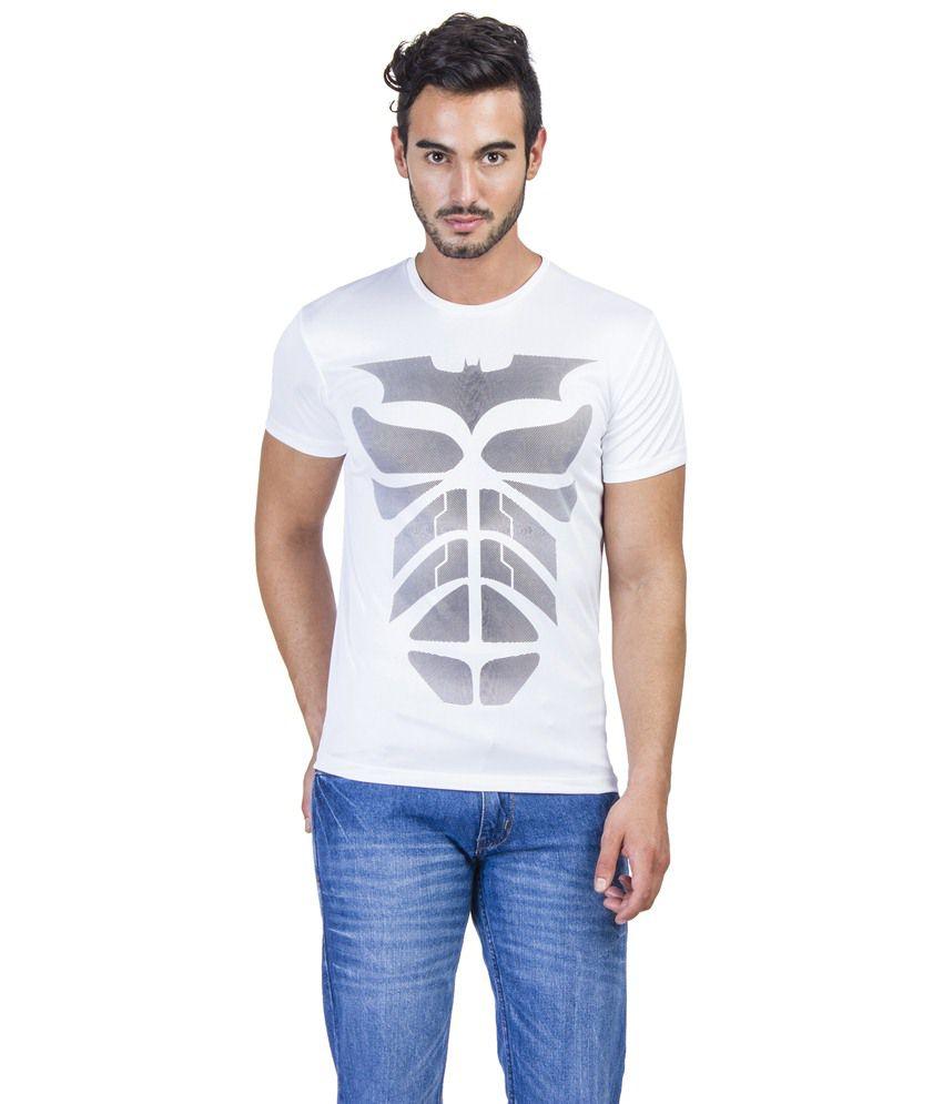Dark Knight White Graphic T-shirt For Men