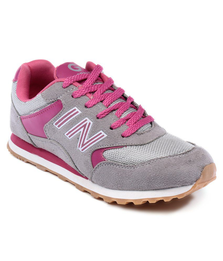 globalite expert grey pink sport shoes price in