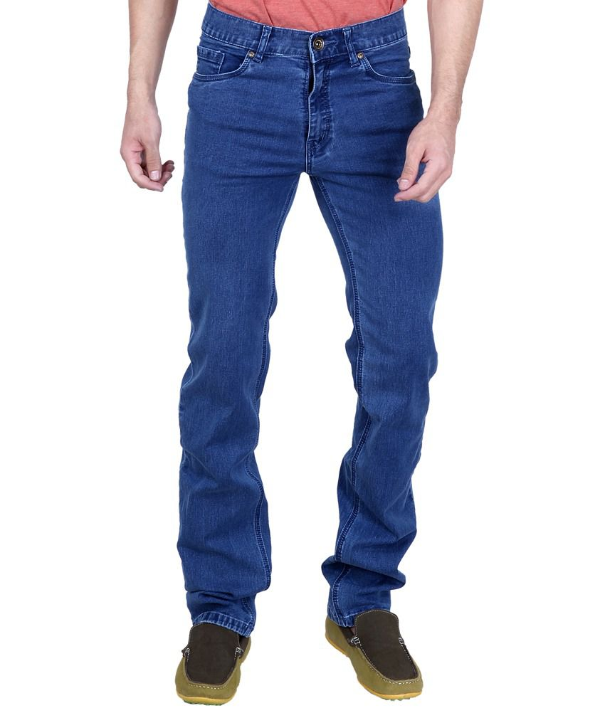 Puff Blue Cotton Slim Fit Adorable Mid Waist Jeans