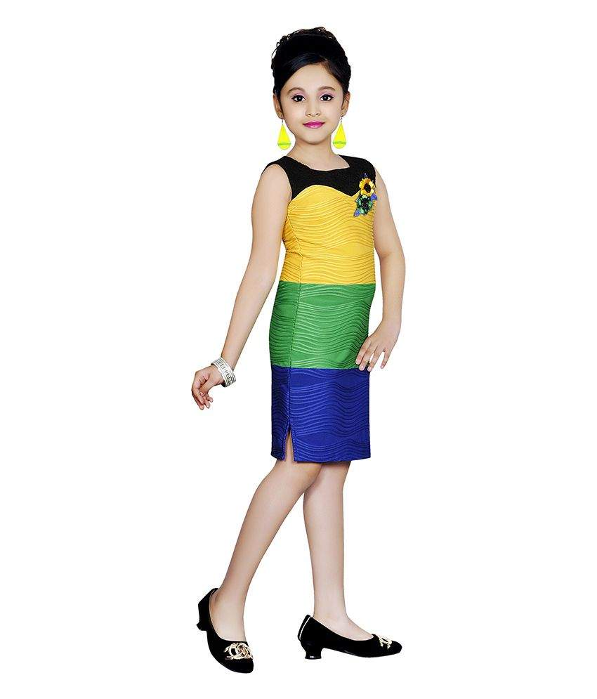 c8d5a3c3a9 Jazzup Yellow Cotton Dress For 8-10 Years Girl - Buy Jazzup Yellow ...
