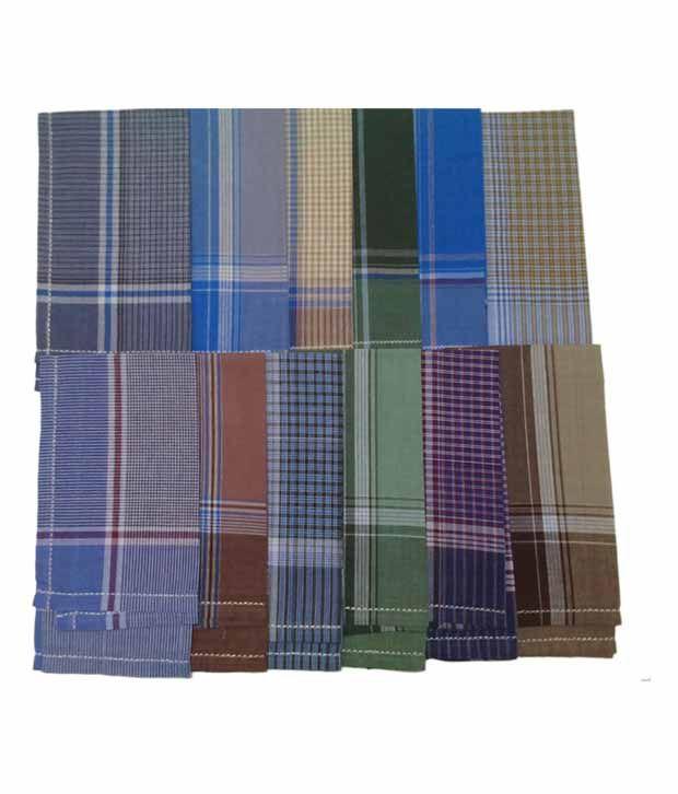 Kuber Industries Multicolour Cotton Handkerchief