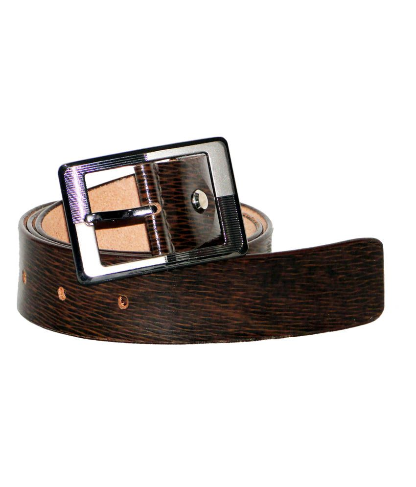 Perfect Brown Leather Casual Belt
