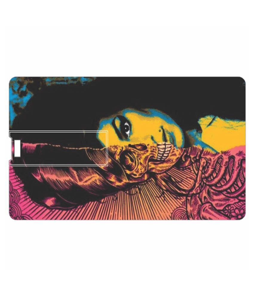 Printland Half Face 8 GB Pen Drives Multicolor