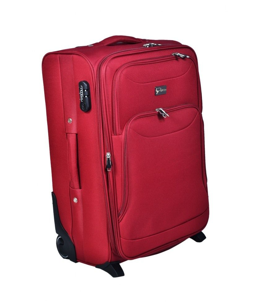 Sprint Maroon Polyester Trolley Bag - Buy Sprint Maroon Polyester ...