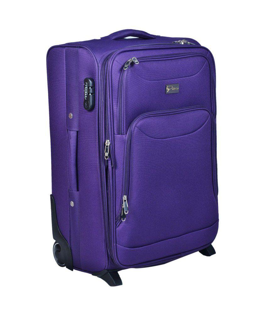 Sprint Purple Polyester Trolley Bag