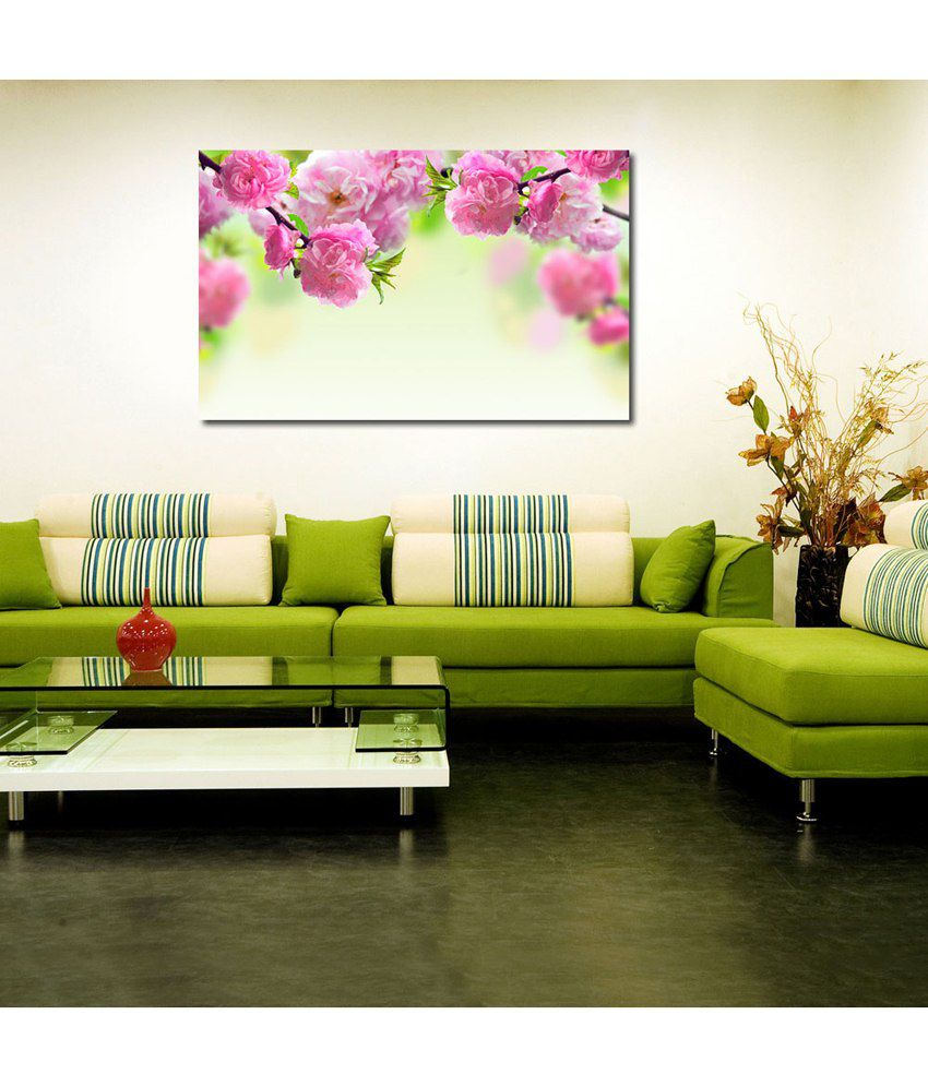 999Store Carnation Flower Printed Modern Wall Art Painting - Large Size