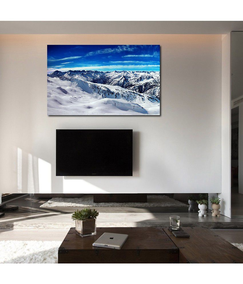 999Store Mountain Snow Printed Modern Wall Art Painting - Large Size