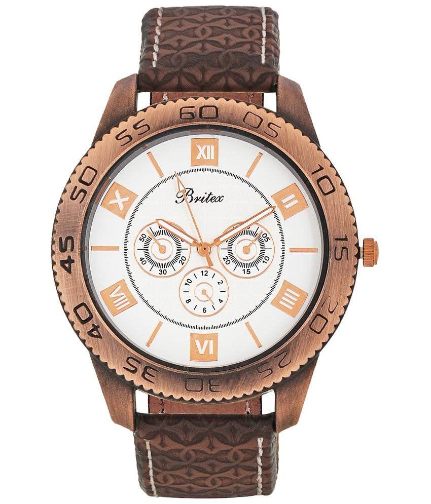 Britex Alluring White Analog Casual Wrist Watch For Men