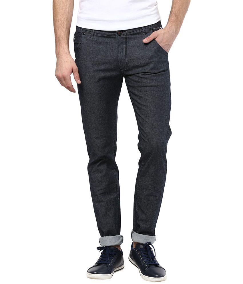 Metal Jeans Gray Cotton Slim Fit Jeans For Men
