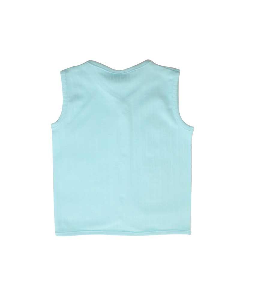Ole Baby Blue Cotton Sleeveless T-Shirt