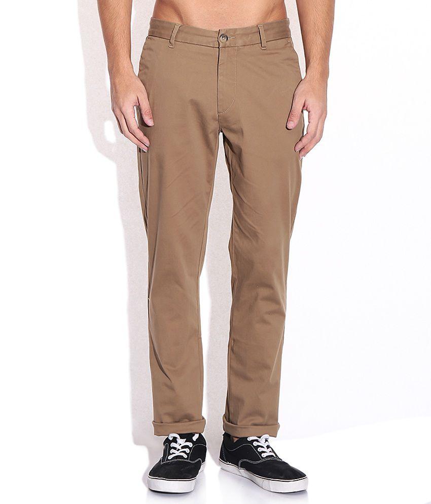 U.S. Polo Assn. Brown Regular Fit Trousers