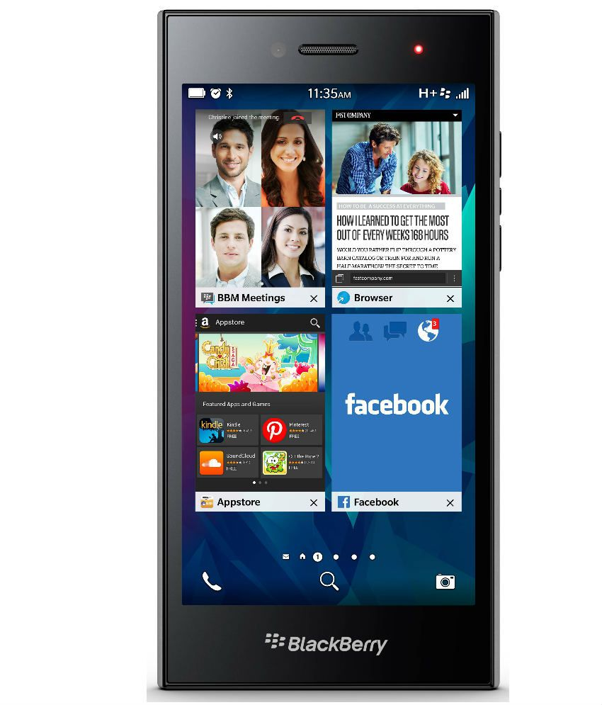 Blackberry Leap Black 16gb 2gb Ram Mobile Phones Online At Low Smart Flip Cover Aurora